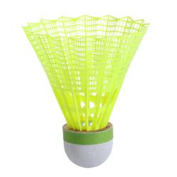 Lot De 6 Volants De Badminton En Plastique PSC 500 Medium - Jaune
