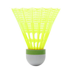PLASTIC SHUTTLECOCK PSC 500 MEDIUM X 6 YELLOW