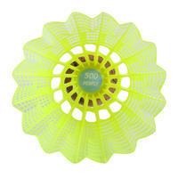 6 كرات تنس الريشة متوسطي الحجم من البلاستيك- أصفر
