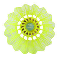 PLASTIC SHUTTLECOCK PSC 500 YELLOW x 6 MEDIUM