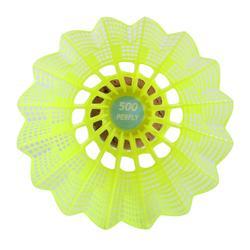 Federbälle Kunststoff PSC 500 Badmintonbälle Medium 6er Dose gelb