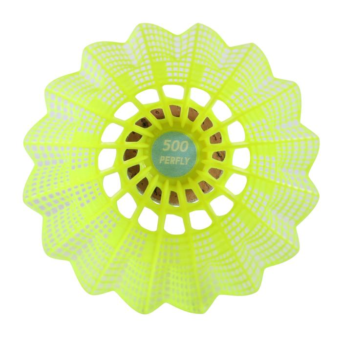 Lot De 6 Volants Plastique PSC 500 Medium - Jaune
