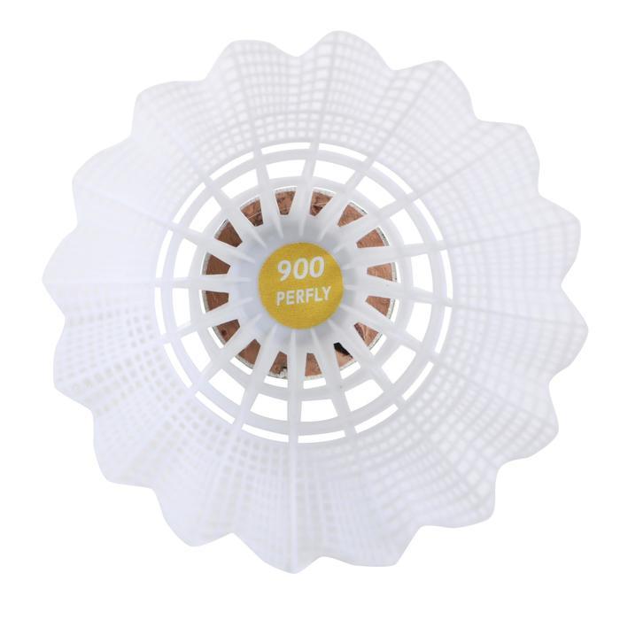 Federbälle PSC 900 Badmintonbälle Medium 6er Dose weiß