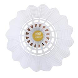 Lot De 6 Volants De Badminton En Plastique PSC 900 Medium - Blanc