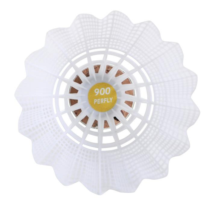 PLASTIC SHUTTLECOCK PSC 900 WHITE x 6 MEDIUM
