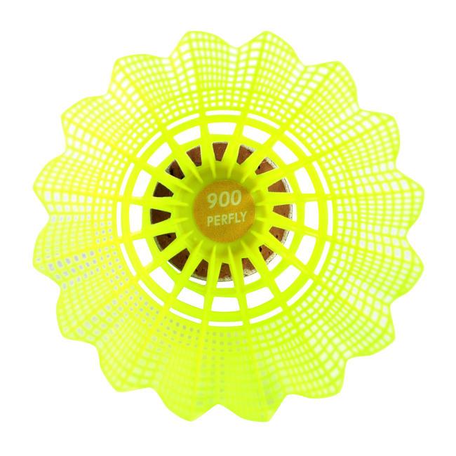PLASTIC SHUTTLECOCK PSC 900 YELLOW x 6 MEDIUM