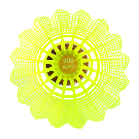 PLASTIC SHUTTLECOCK PSC 900 YELLOW x 6 MEDIUM