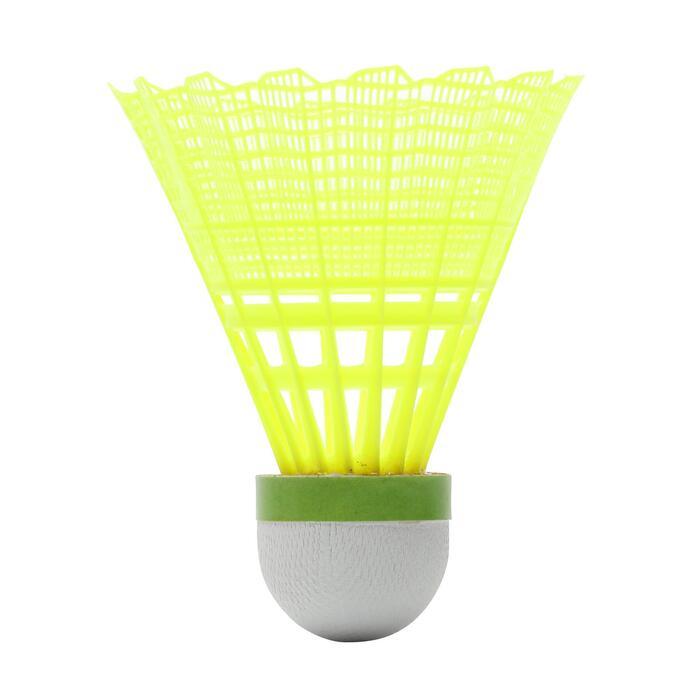 Volant De Badminton En Plastique PSC 900 x 6 - Jaune