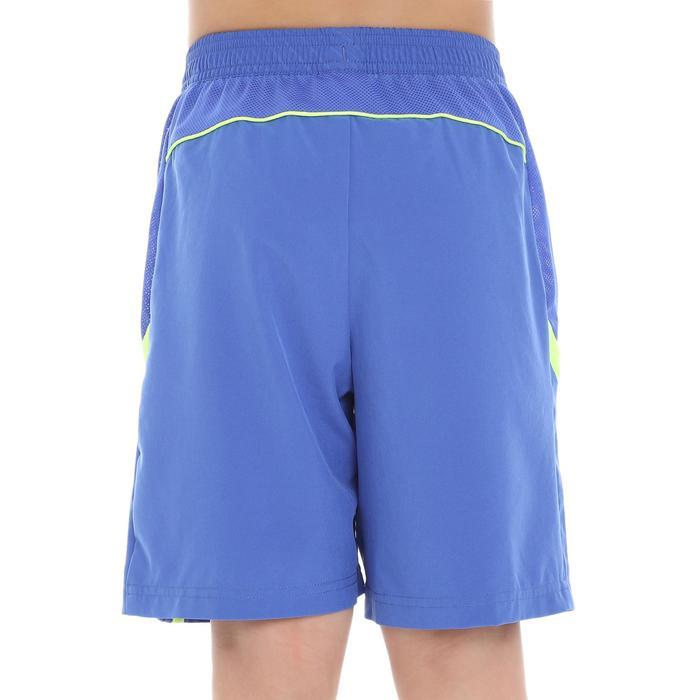 Pantalón corto de bádminton perfly 560 niños azul y amarillo