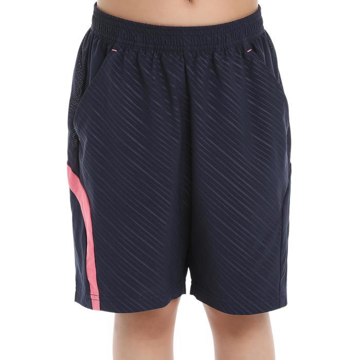 Pantalón corto de bádminton perfly 560 niños azul y rosa