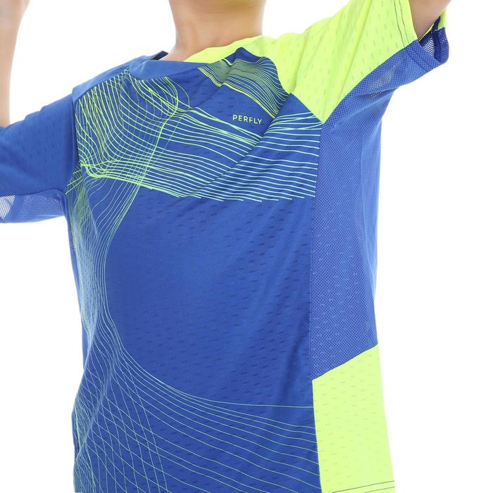 T-SHIRT de badminton JUNIOR 560 - BLEU JAUNE