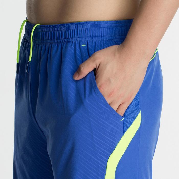 男款短褲560-藍黃配色