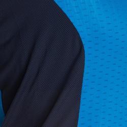 Camiseta de bádminton manga corta perfly 560 mujer azul