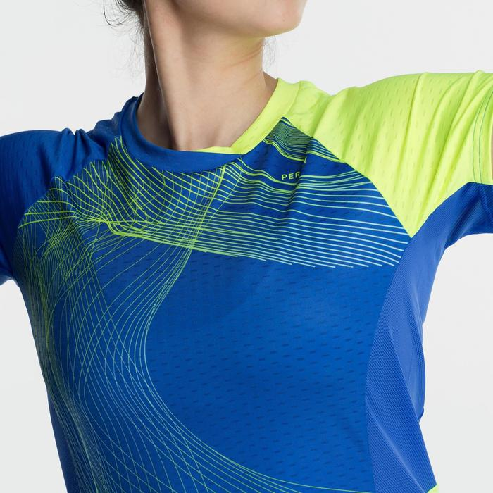 T-Shirt 560 Femme - Bleu/Jaune
