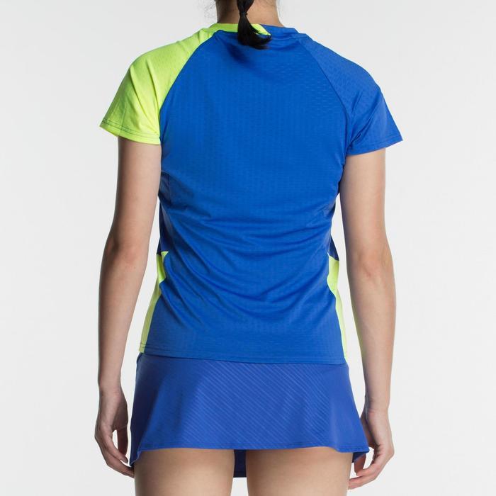 T-Shirt 560 Damen blau/gelb