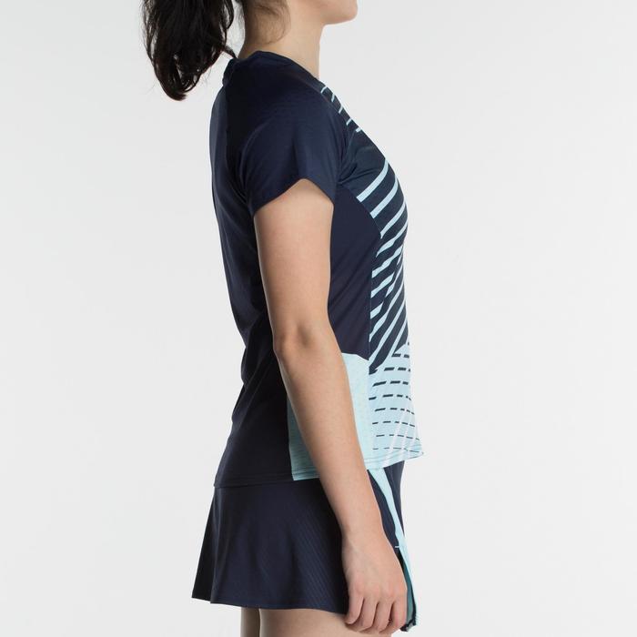 T-Shirt de badminton Femme 560 - Marine/Bleu