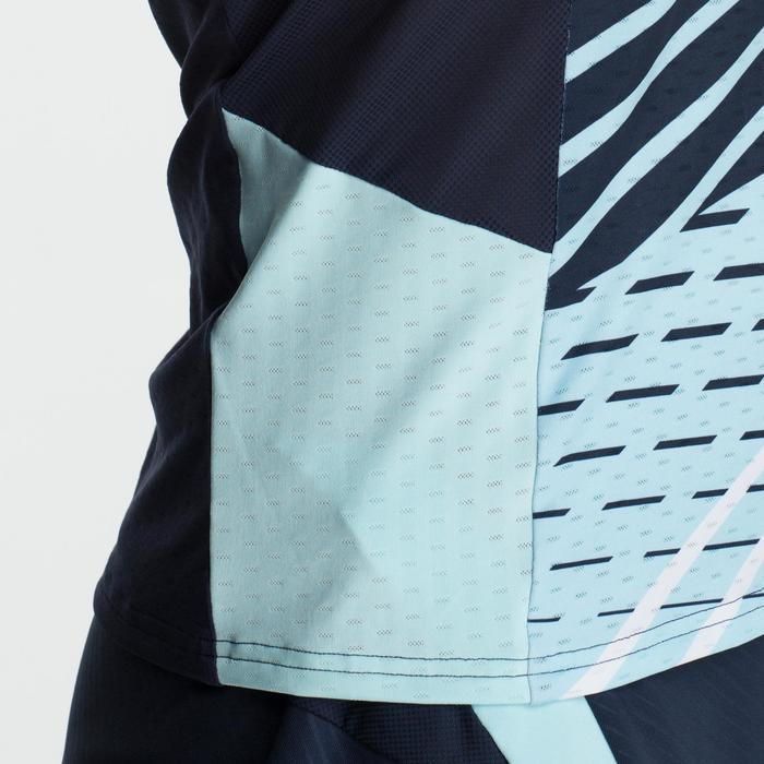 Camiseta de bádminton manga corta perfly 560 mujer azul claro