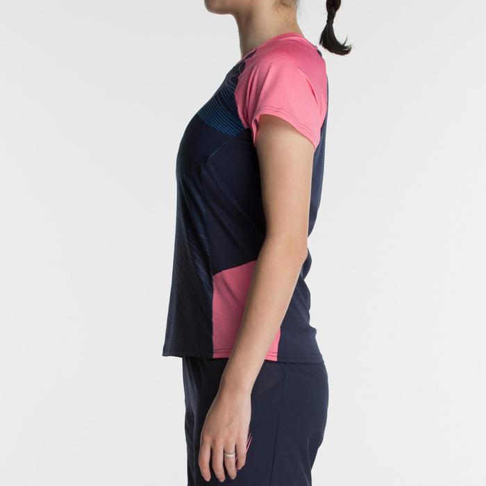 T-shirt 560 dames marineblauw roze