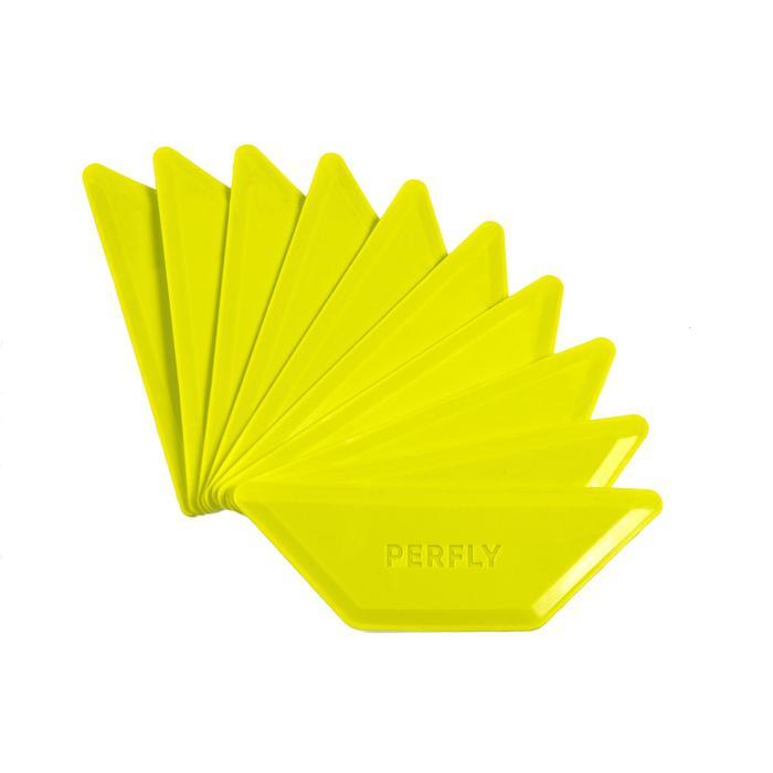Afbakenplaatjes badmintonveld geel