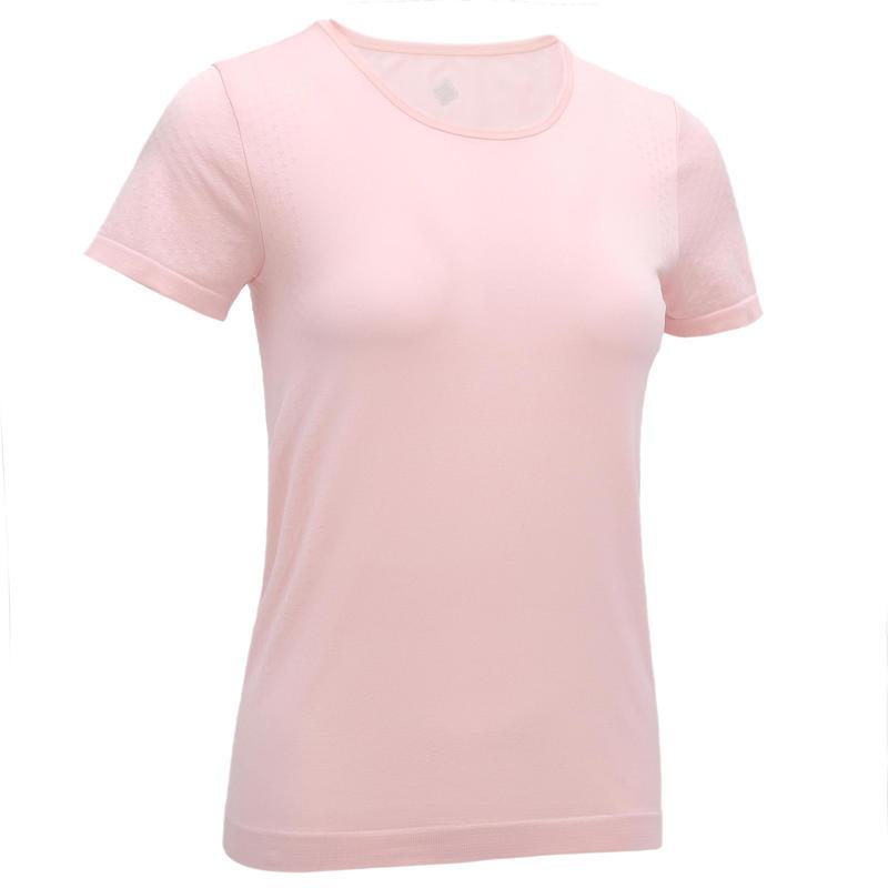 T-Shirt Yoga Dinamis Seamless Wanita- Pink