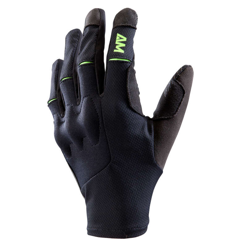 ADULT WARM WEATHER ALL MOUNT. MTB GLOVES Cycling - All Mountain MTB Gloves Black ROCKRIDER - Clothing
