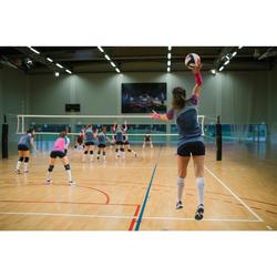 Camiseta de Voleibol Allsix V500 mujer azul marino