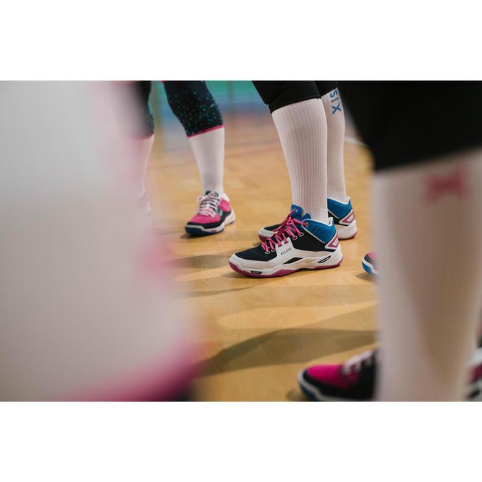 Volleyballschuhe V500 Mid Damen blau/weiß