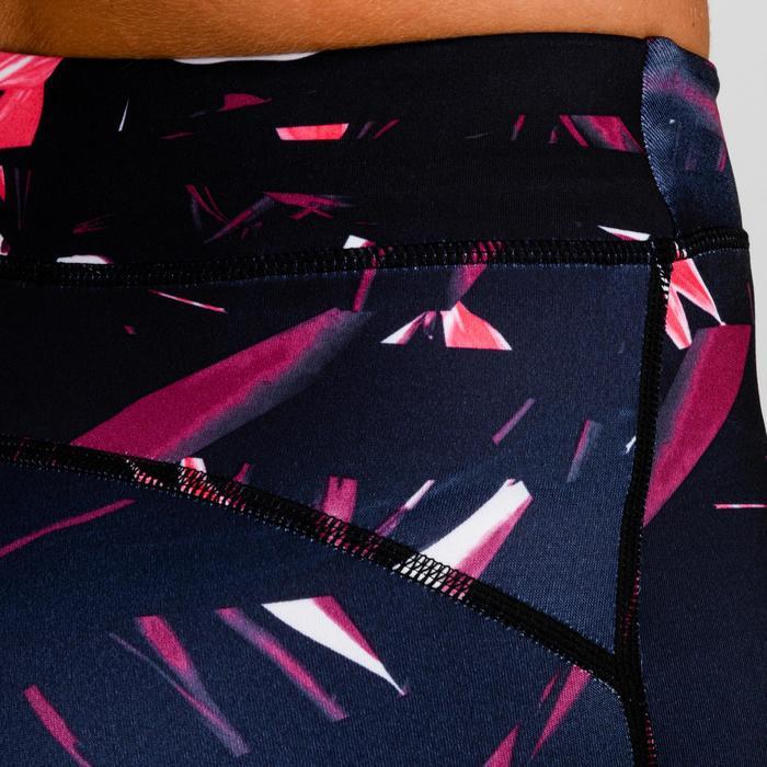 Cardiofitness legging 520 voor dames zwart met print