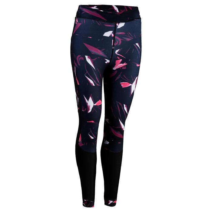Fitness legging 520 voor dames, zwart/print