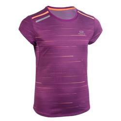 RUN DRY + Girl's athletics T-shirt purple