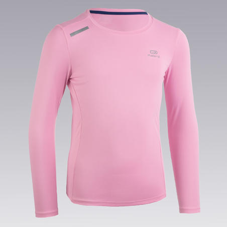 Sun Protect long-sleeved athletics T-shirt - pastel pink