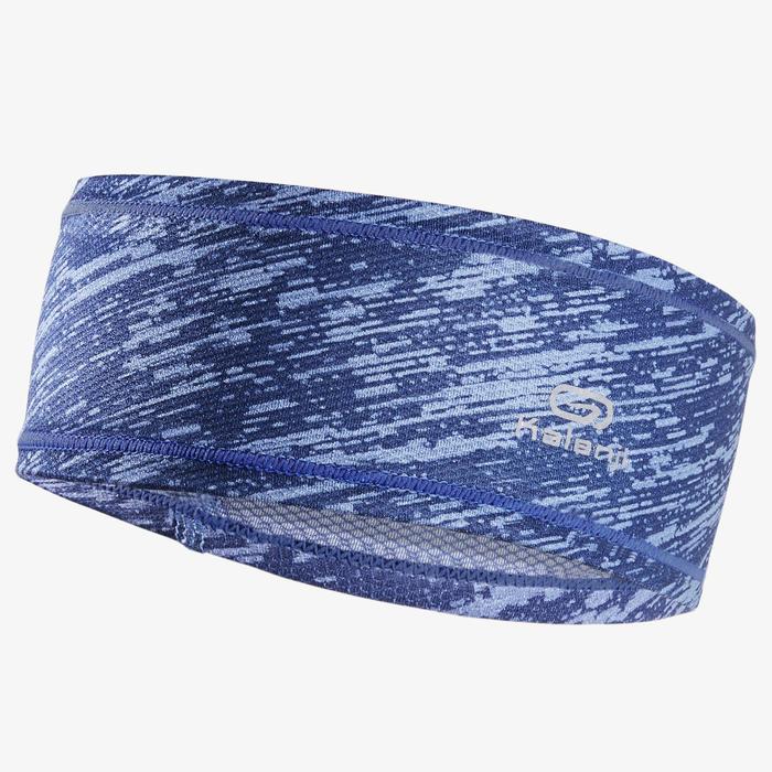Hardloophoofdband stormblauw Kalenji