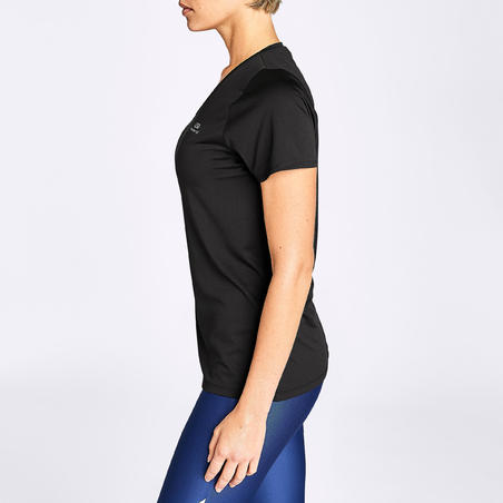 RUN DRY WOMEN'S T-SHIRT - BLACK