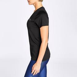 T-shirt pour la course à pied RunDry noir – Femmes