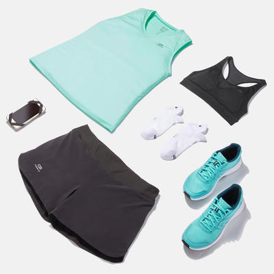 BASIC RUNNING SPORTS BRA BLACK