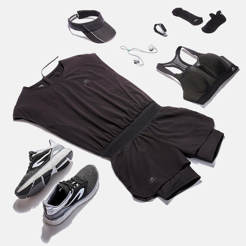 RUN COMFORT WOMEN'S RUNNING SHOES BLACK/GREY
