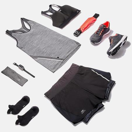 Жіночі шорти Run Dry+ для бігу, 2 в 1 - Чорні