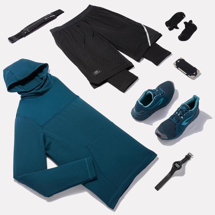 Lange hardloopshort voor heren Run Dry+ Breathe zwart
