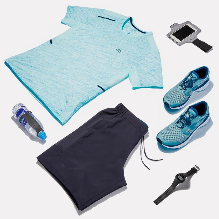Heren T-shirt Run Dry+ voor hardlopen pastelgroen