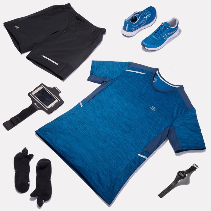 Laufshirt Run Dry+ Herren petrolblau