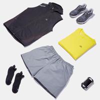 KALENJI DRY MEN'S BREATHABLE RUNNING SHORTS - STONE GREY