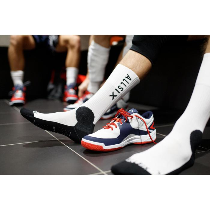Chaussettes de volley-ball mid V500 blanches et navy