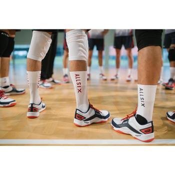 Volleyballsocken V500 Mid Herren weiß/rot