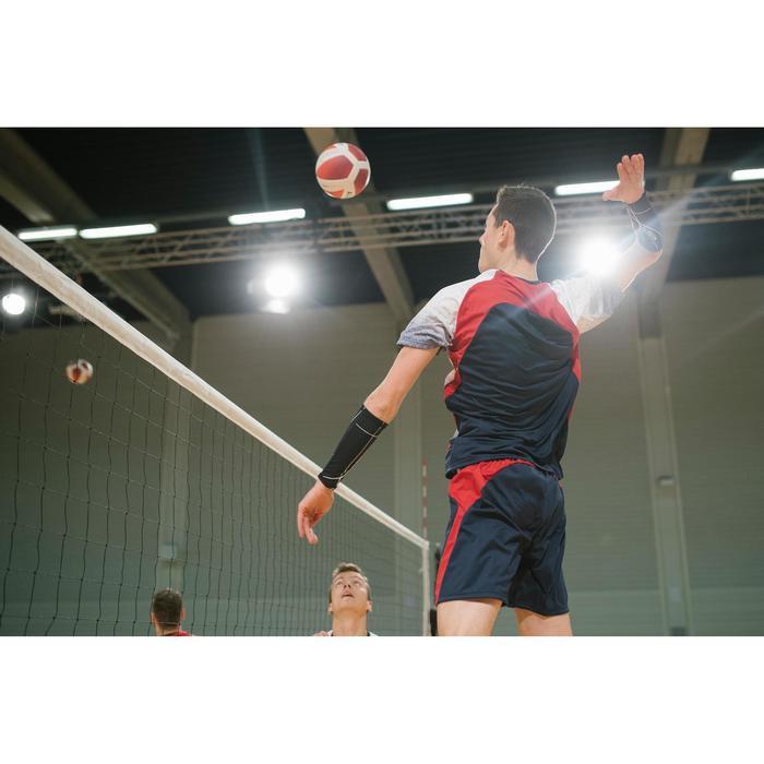 Volleybalbroekje heren V500 blauw/rood