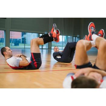 Halfhoge volleybalschoenen voor heren V500 rood en blauw