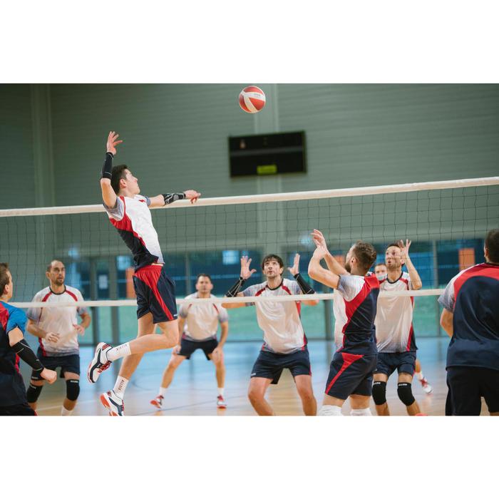 Volleybalshirt voor heren V500 grijs/rood