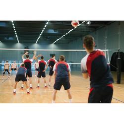 Camiseta de Voleibol Allsix V500 hombre gris y rojo