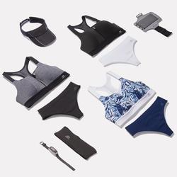跑步運動內衣COMFORT 雜灰色