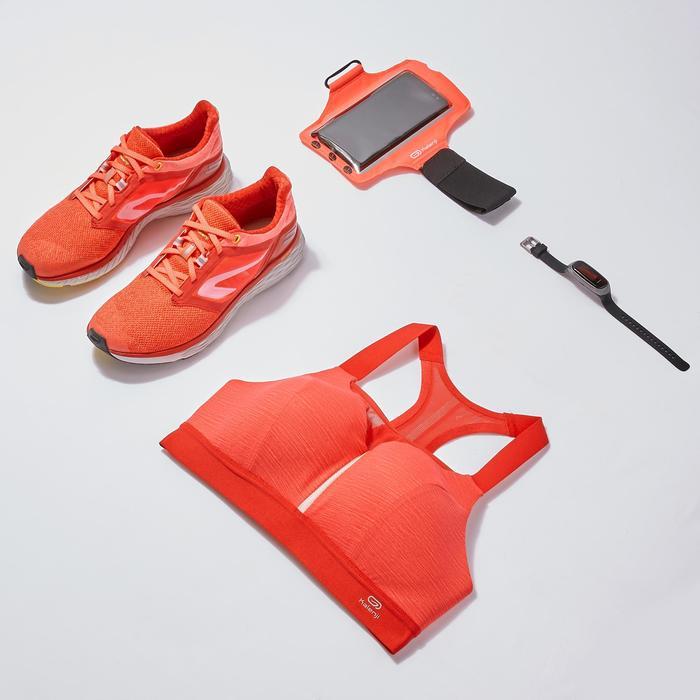 Sport-BH Bustier verstellbar mit Schalen rot meliert
