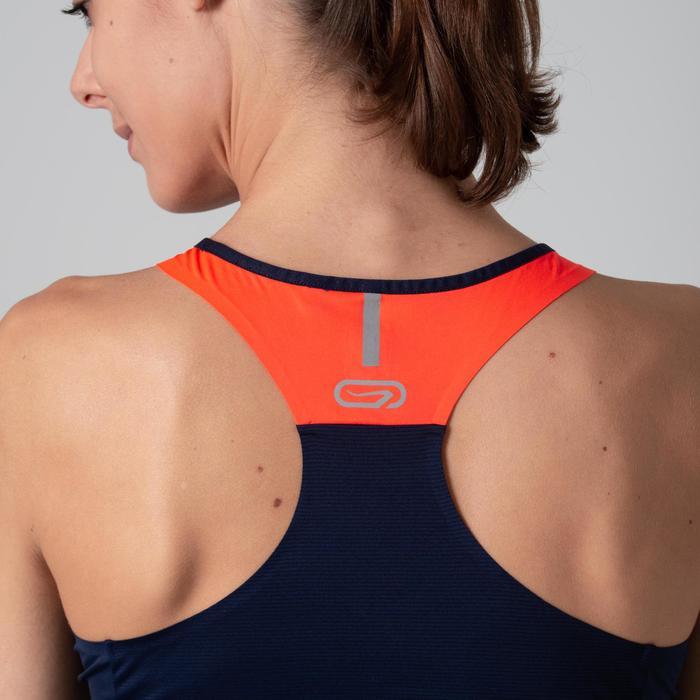 Lauftop Damen blau/orange